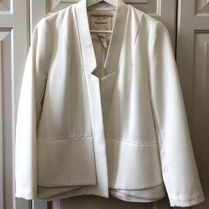 White Anthropologie blazer
